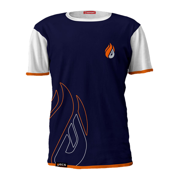 ECS Navy & White Flame Tee