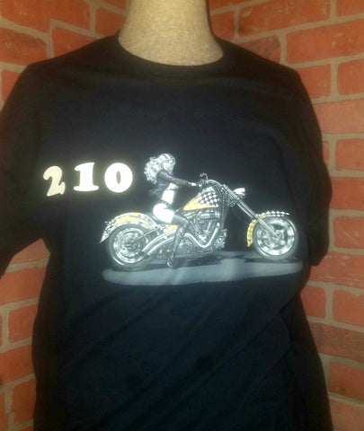 ONLY $15 Short sleeve 210 motorcycle black shirt