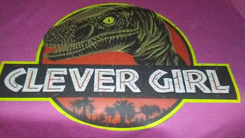 Jurassic clever girl On Pink