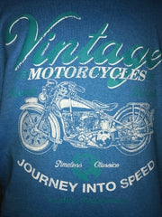 ONLY $15 Short short sleeve vintage motorcycle shirt