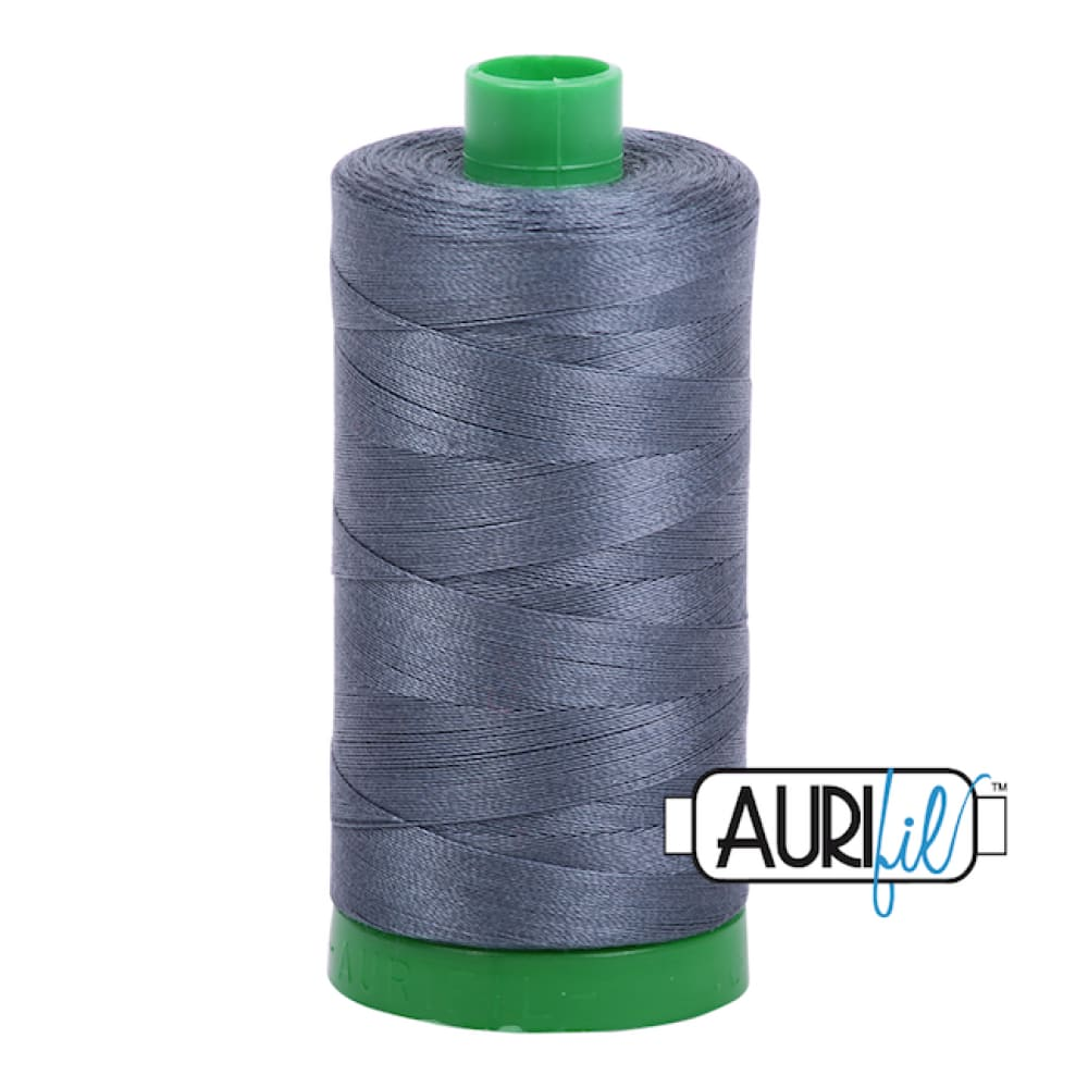 Aurifil 40wt Cotton Thread - Medium Grey 1158 - Fabric Funhouse