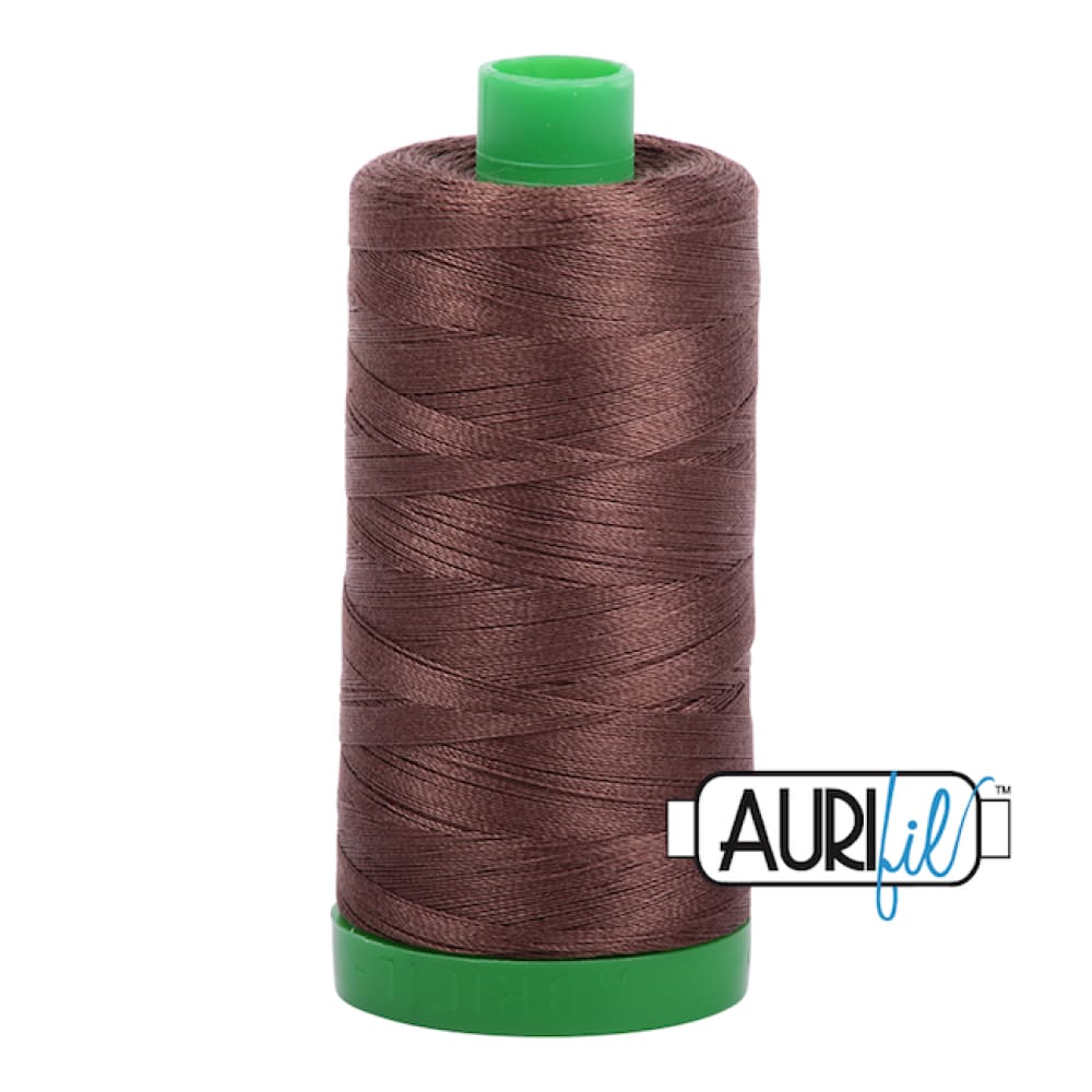 Aurifil 40wt Cotton Thread - Medium Bark 1285 - Fabric Funhouse