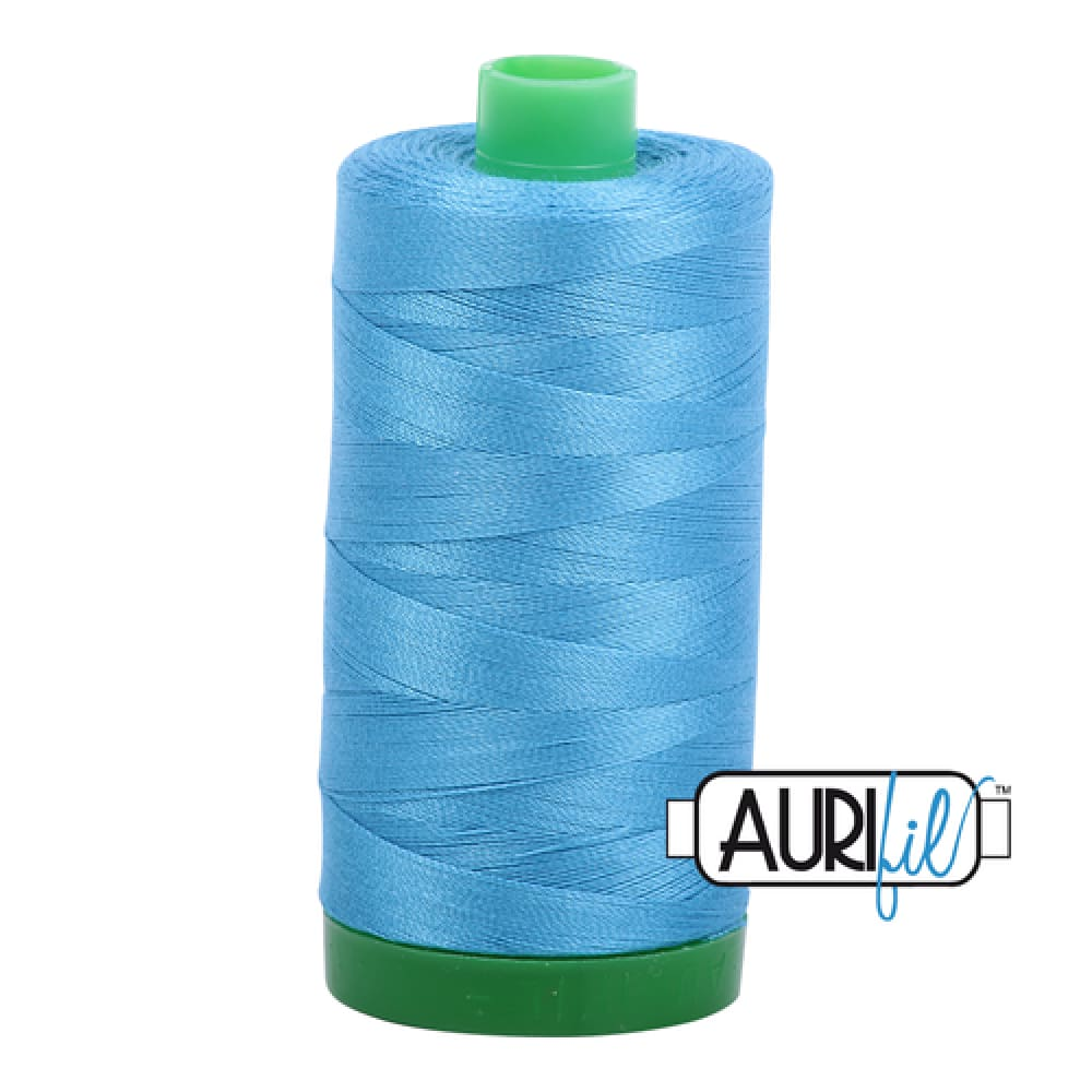 Aurifil 40wt Cotton Thread - Bright Teal 1320 - Fabric Funhouse