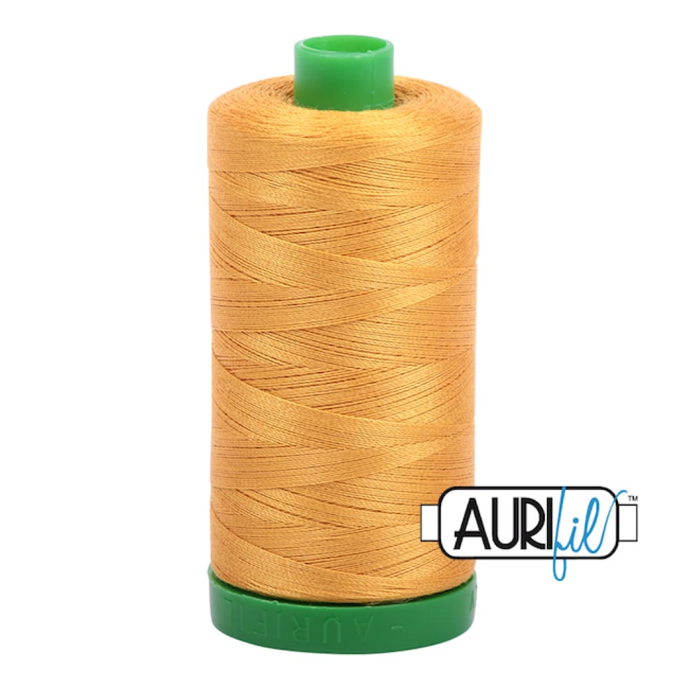 Aurifil 40wt Cotton Thread - Orange Mustard 2140 - Fabric Funhouse