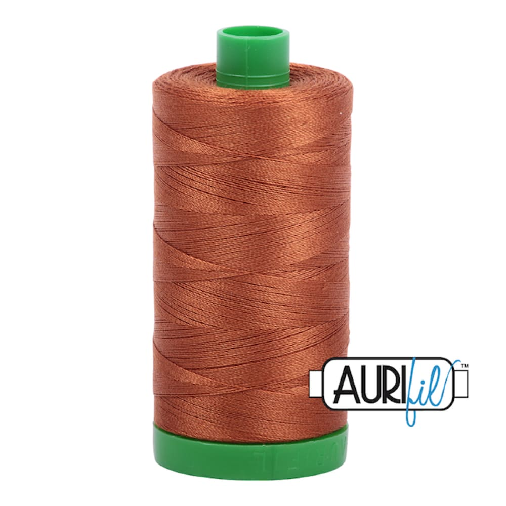 Aurifil 40wt Cotton Thread - Cinnamon 2155 - Fabric Funhouse