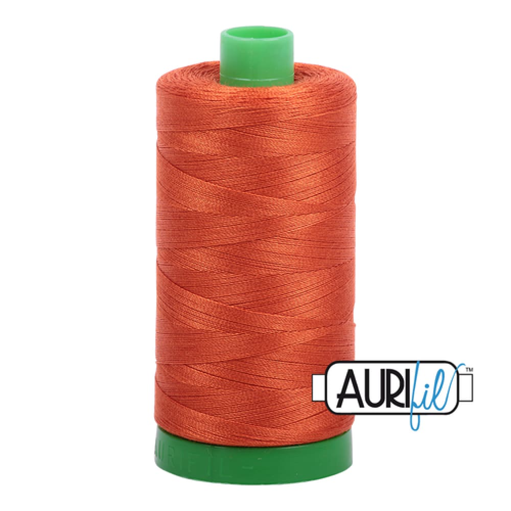 Aurifil 40wt Cotton Thread - Rusty Orange 2240 - Fabric Funhouse