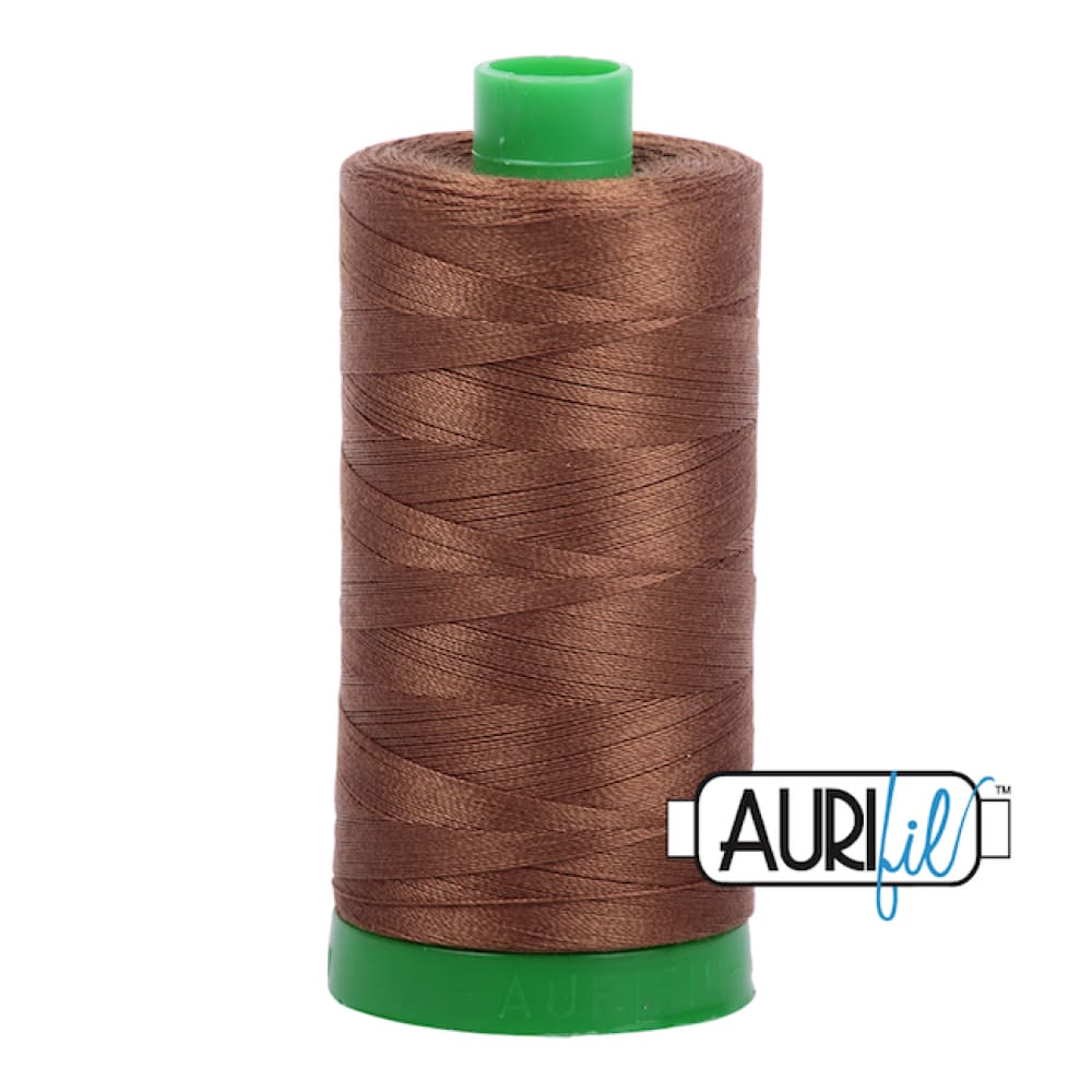 Aurifil 40wt Cotton Thread - Dark Antique Gold 2372 - Fabric Funhouse