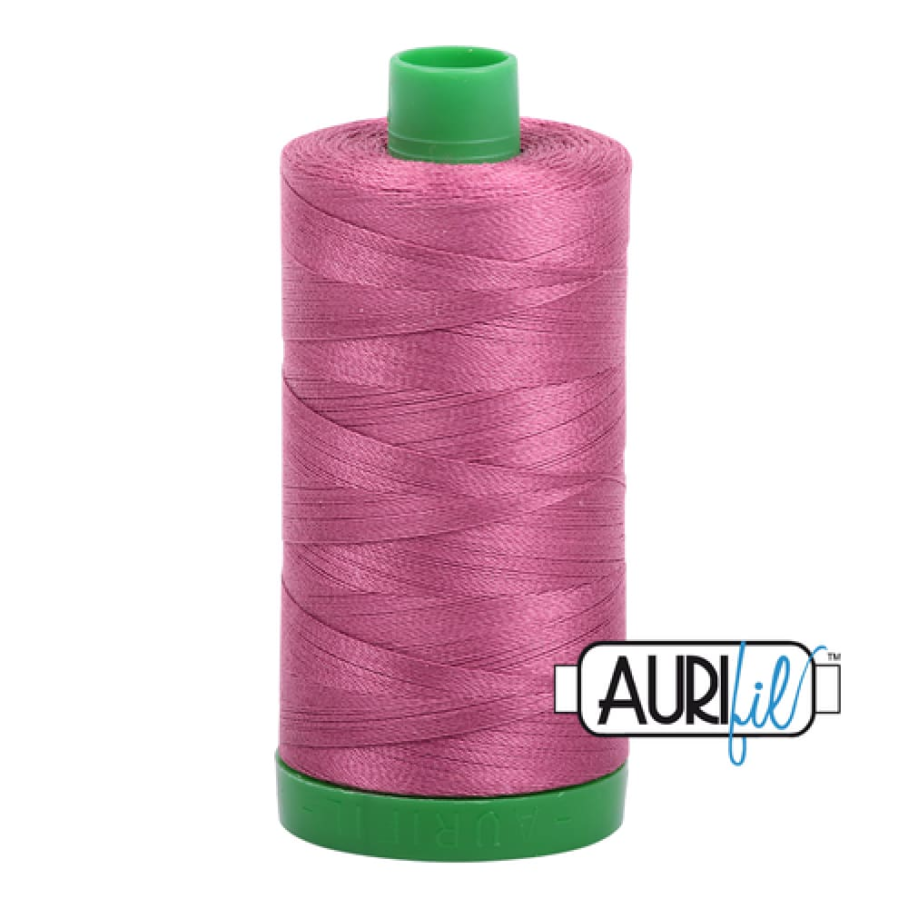 Aurifil 40wt Cotton Thread - Rose 2450 - Fabric Funhouse