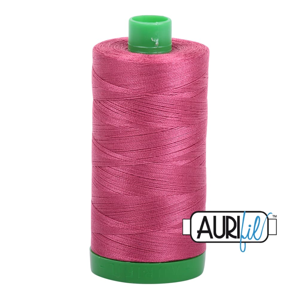 Aurifil 40wt Cotton Thread - Medium Carmine Red 2455 - Fabric Funhouse
