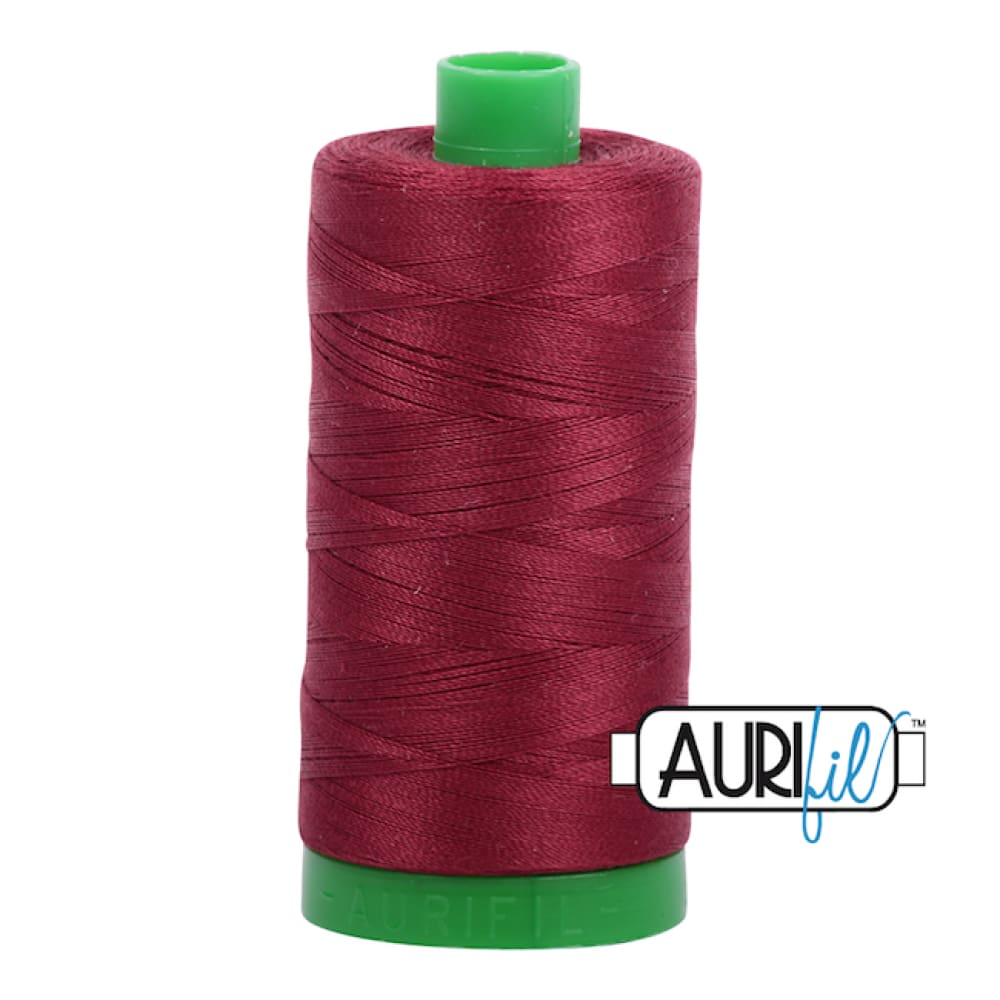 Aurifil 40wt Cotton Thread - Dark Carmine Red 2460 - Fabric Funhouse