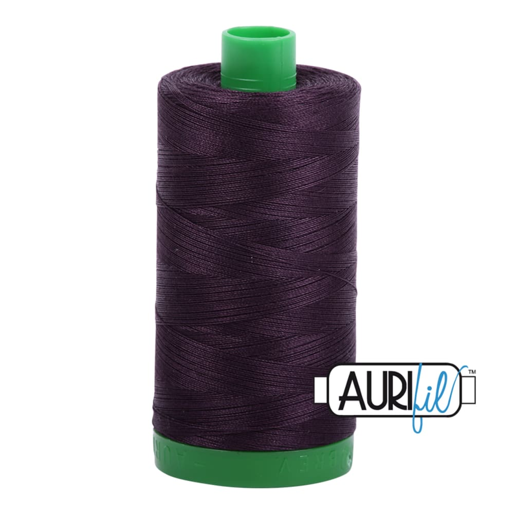 Aurifil 40wt Cotton Thread - Aubergine 2570 - Fabric Funhouse