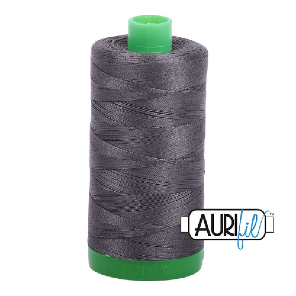 Aurifil 40wt Cotton Thread - Dark Pewter 2630 - Fabric Funhouse
