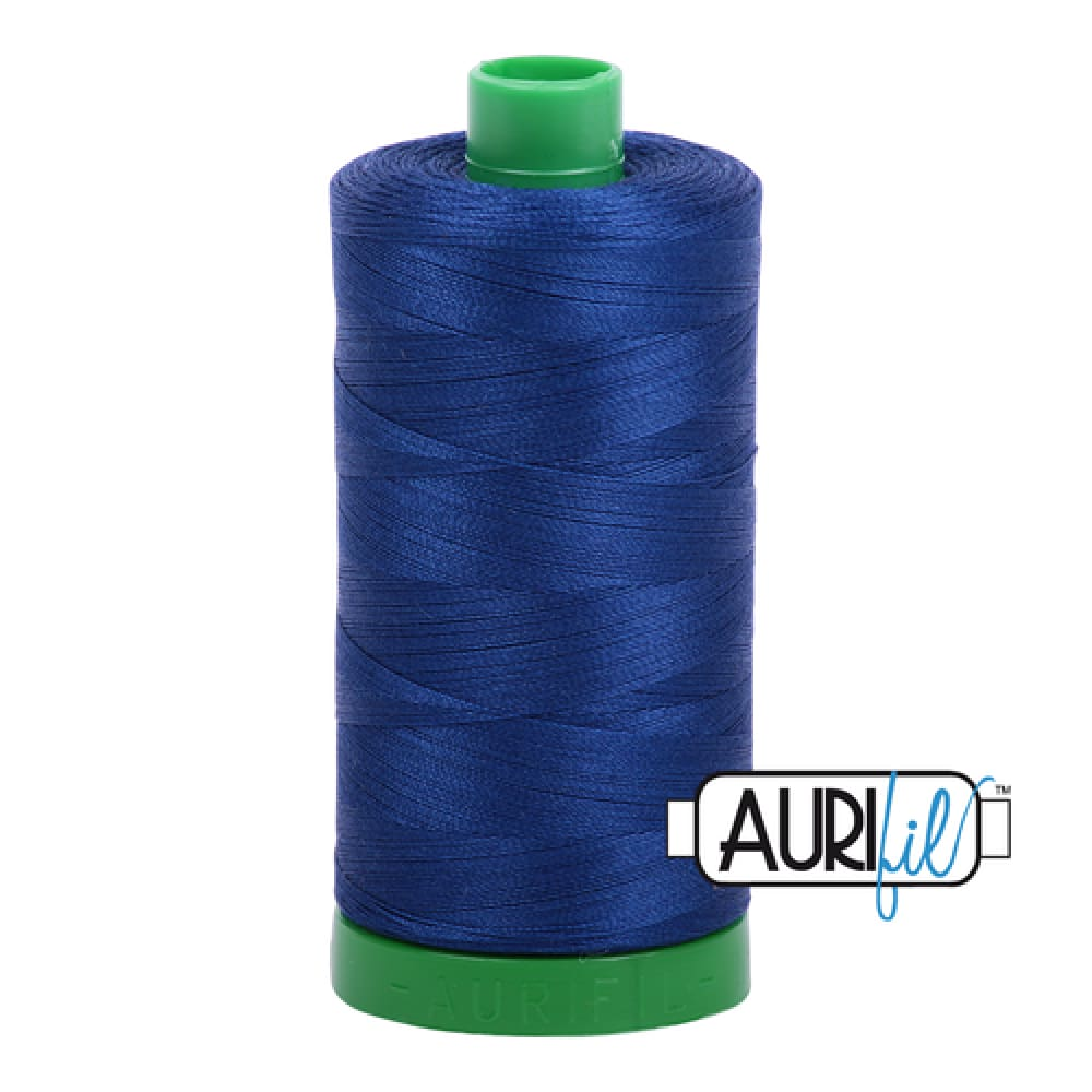 Aurifil 40wt Cotton Thread - Dark Delft Blue 2780* - Fabric Funhouse
