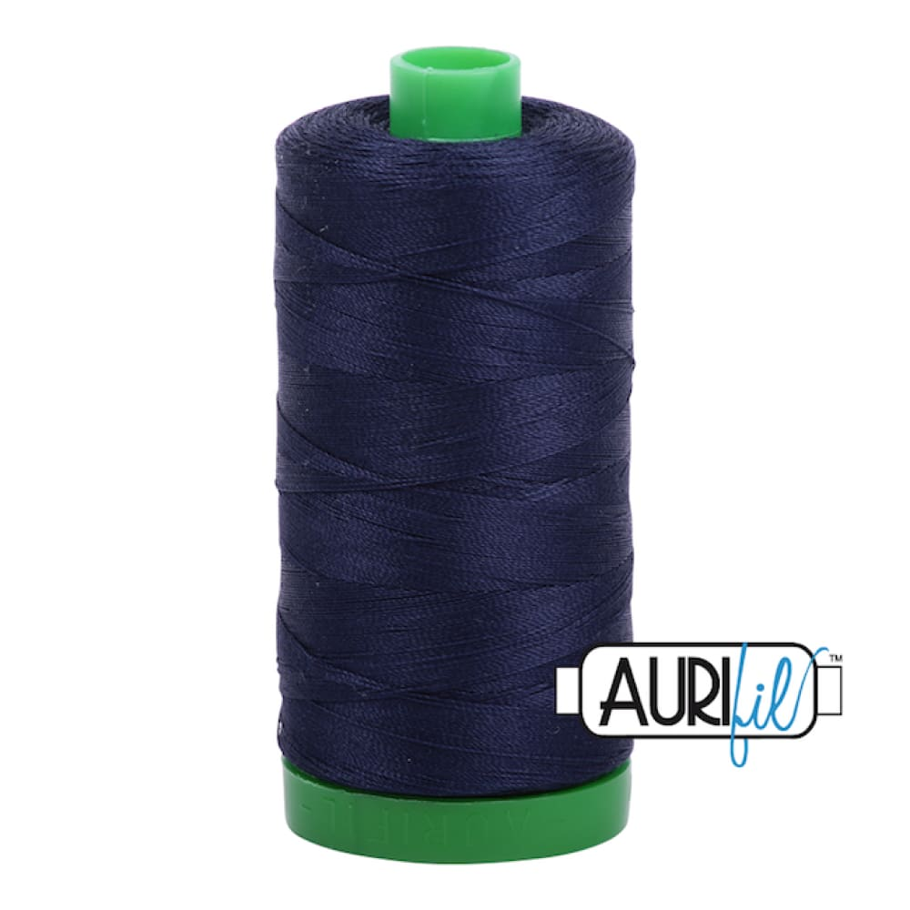 Aurifil 40wt Cotton Thread - Very Dark Navy 2785 - Fabric Funhouse
