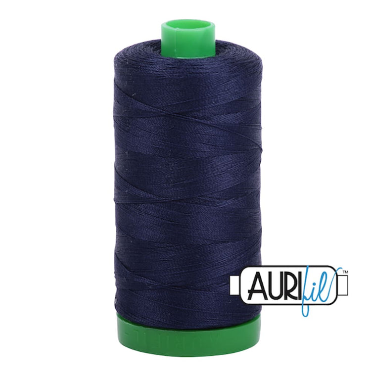 Aurifil 40wt Cotton Thread - Very Dark Navy 2785