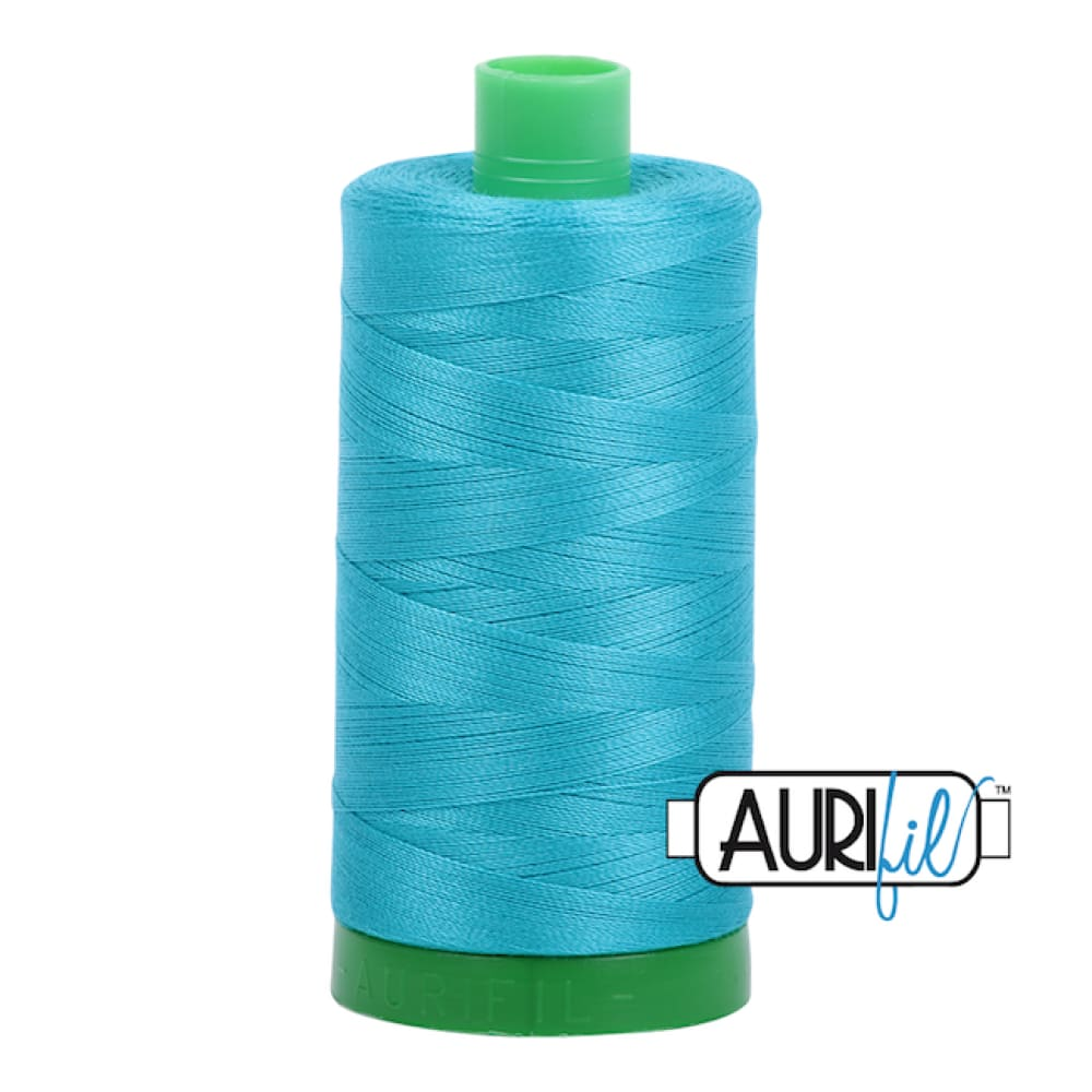 Aurifil 40wt Cotton Thread - Turquoise 2810* - Fabric Funhouse