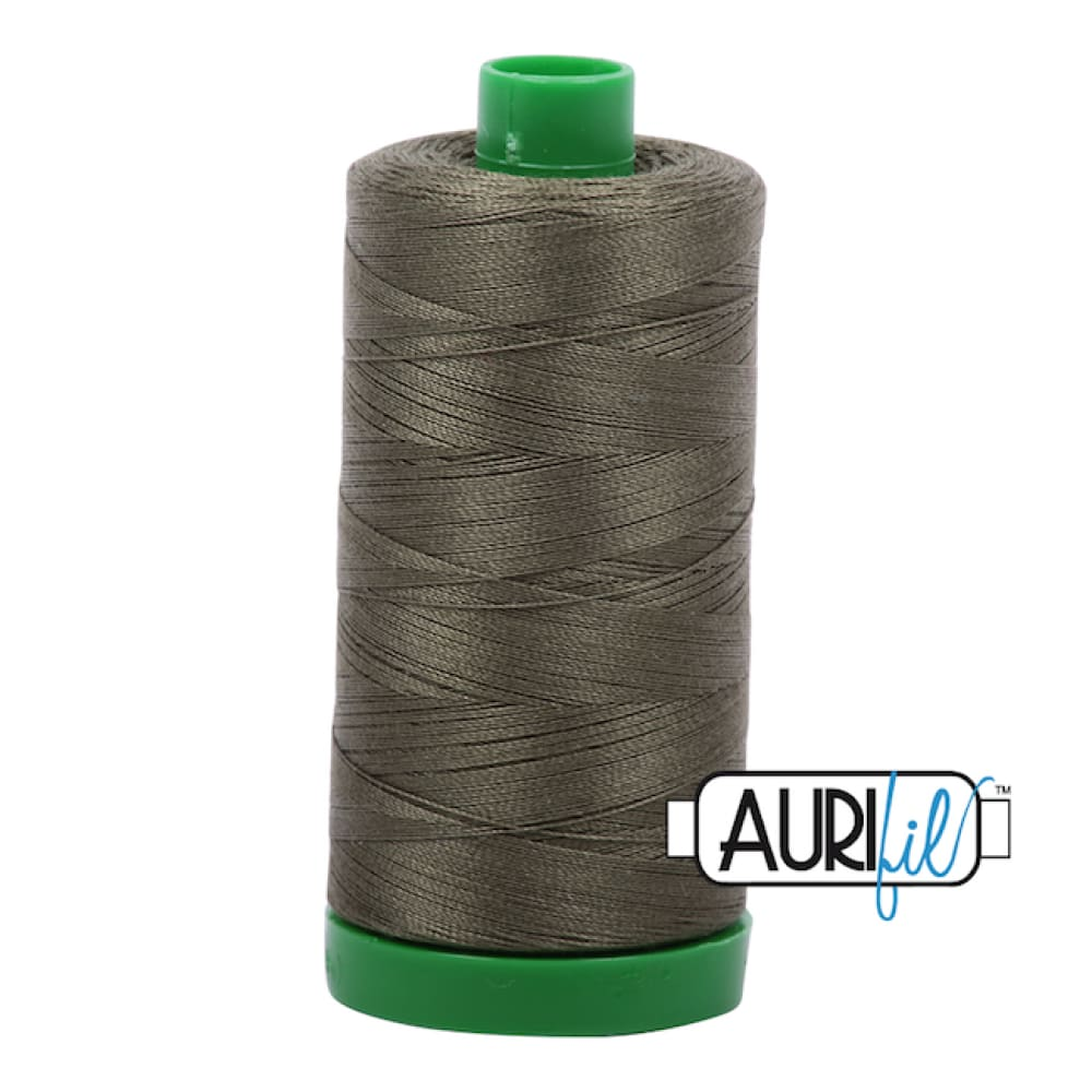 Aurifil 40wt Cotton Thread - Army Green 2905 - Fabric Funhouse