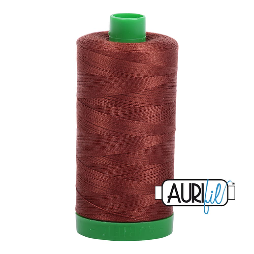 Aurifil 40wt Cotton Thread - Copper Brown 4012 - Fabric Funhouse
