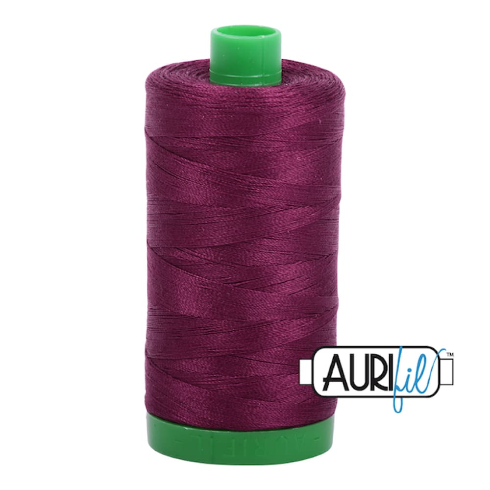Aurifil 40wt Cotton Thread - Plum 4030* - Fabric Funhouse