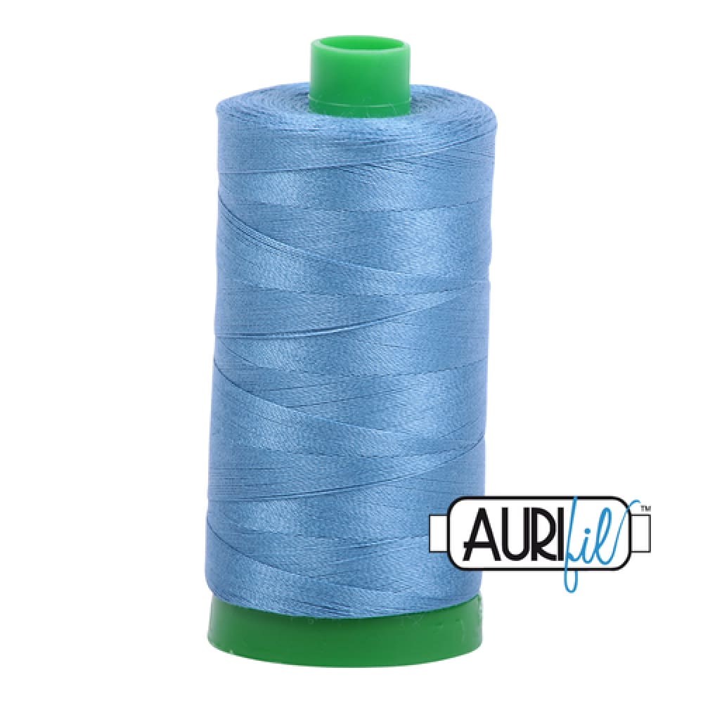 Aurifil 40wt Cotton Thread - Wedgewood 4140 - Fabric Funhouse