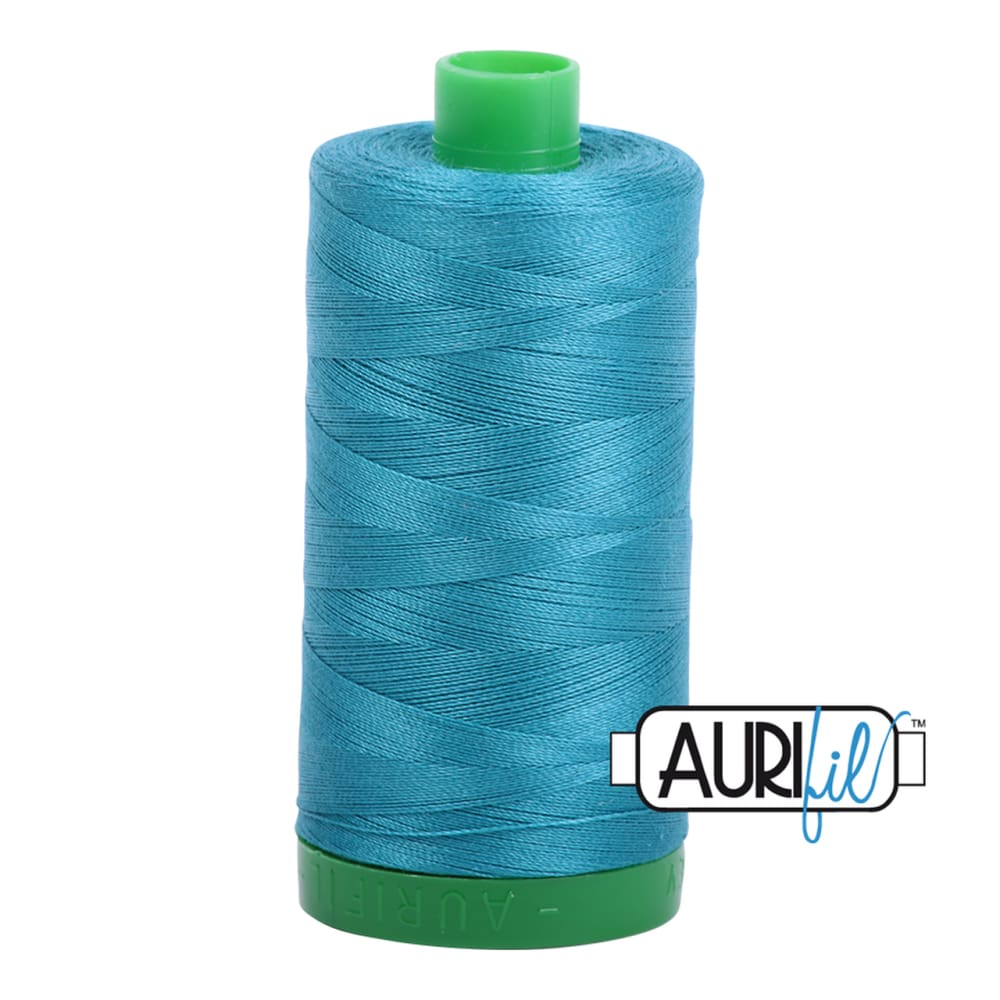 Aurifil 40wt Cotton Thread - Dark Turquoise 4182 - Fabric Funhouse