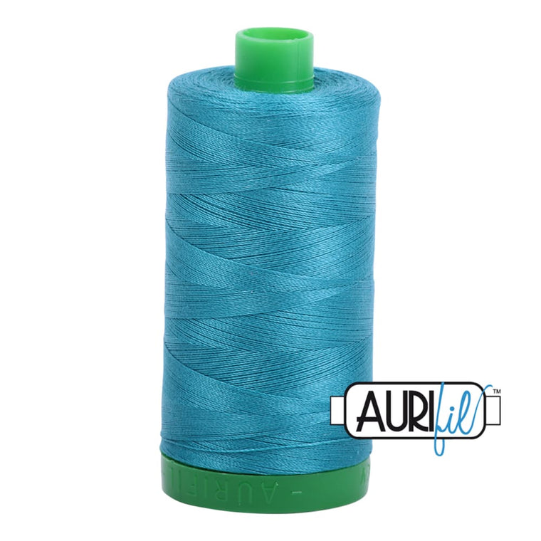 Aurifil 40wt Cotton Thread - Dark Turquoise 4182