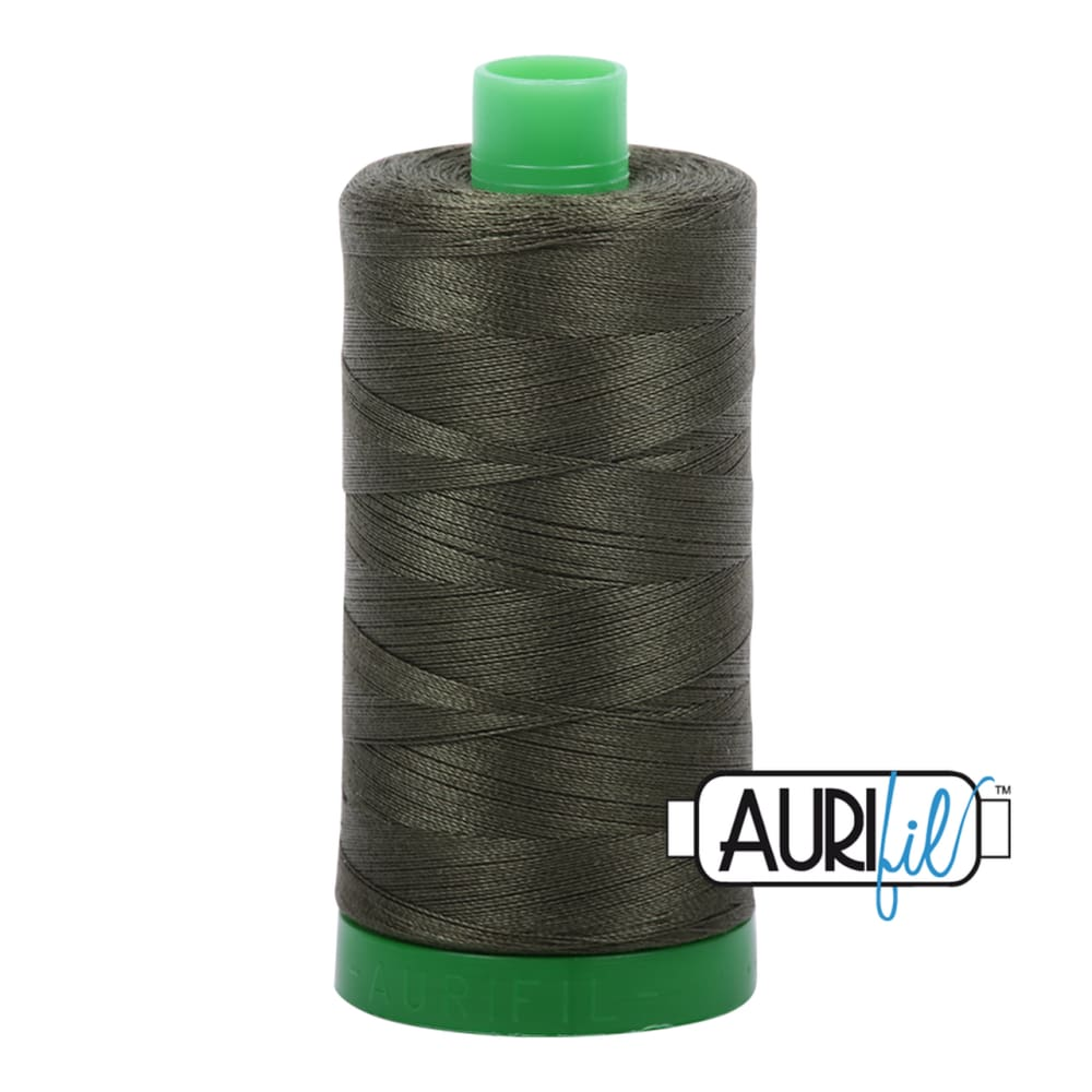 Aurifil 40wt Cotton Thread - Dark Green 5012 - Fabric Funhouse