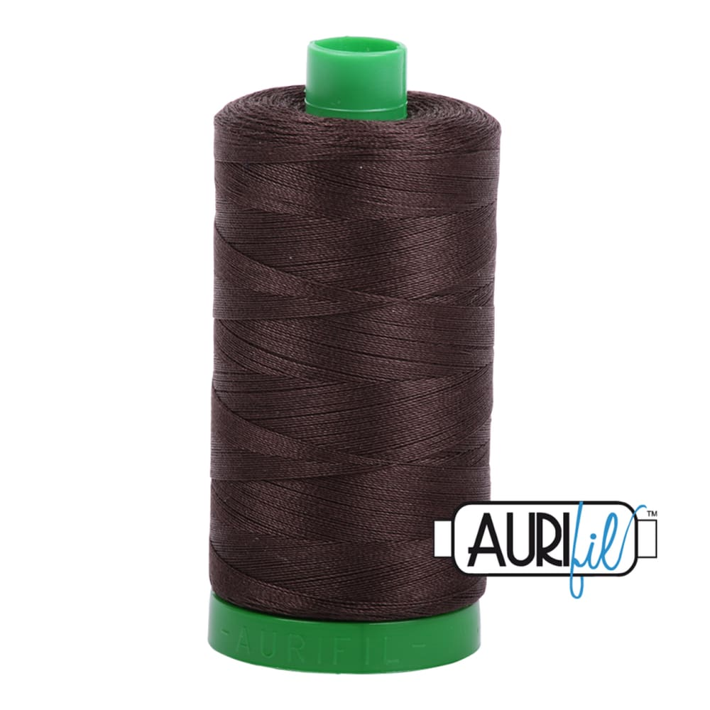 Aurifil 40wt Cotton Thread - Dark Brown 5024 - Fabric Funhouse