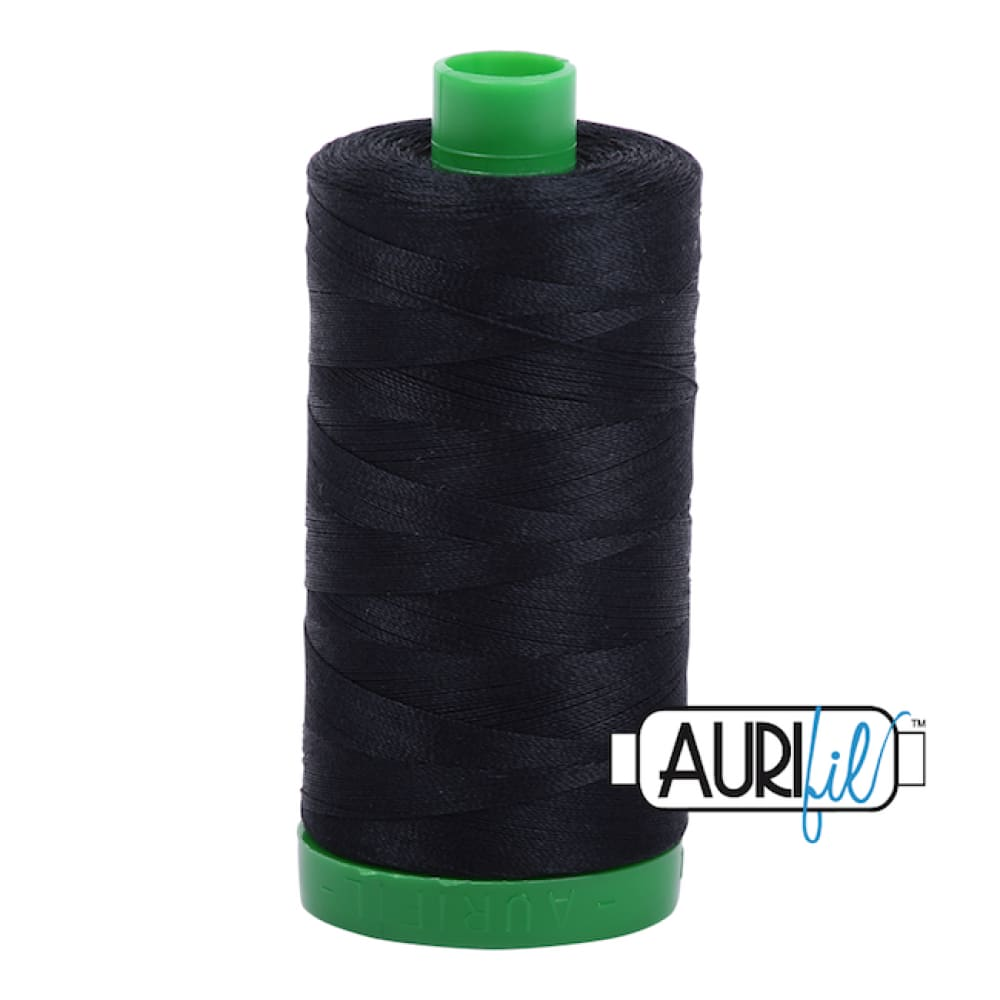 Aurifil 40wt Cotton Thread - Black 2692 - Fabric Funhouse