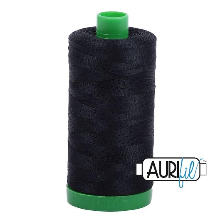 Aurifil 40wt Cotton Thread - Black 2692