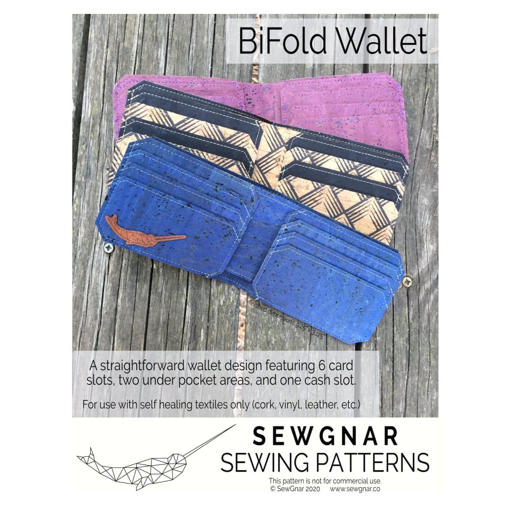 Sewing Pattern - SewGnar BiFold Wallet Sewing Pattern