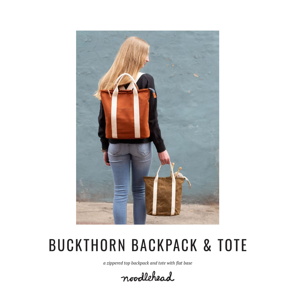 Noodlehead - Buckthorn Backpack + Tote Sewing Pattern - Fabric Funhouse
