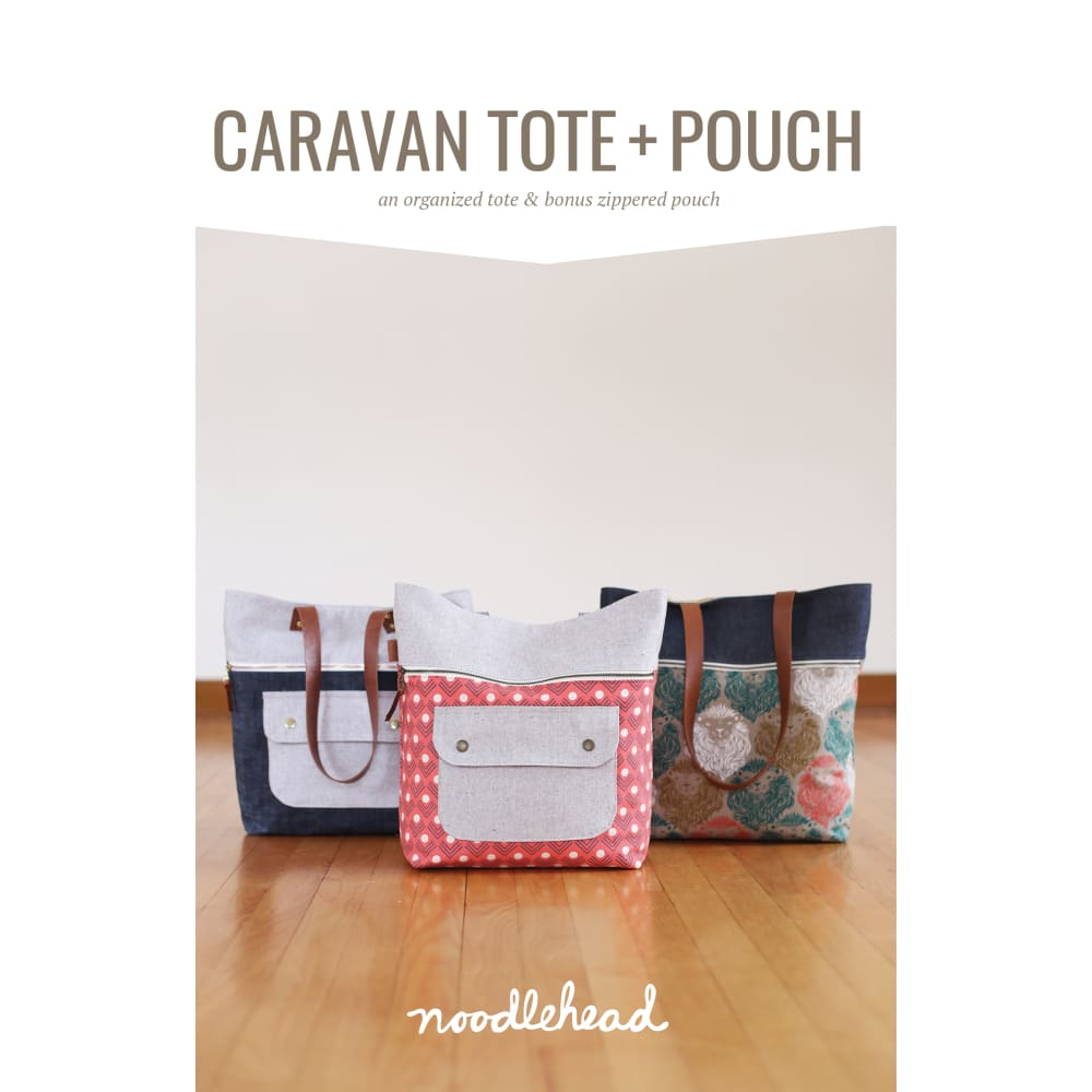Noodlehead - Caravan Tote + Pouch Sewing Pattern - Fabric Funhouse