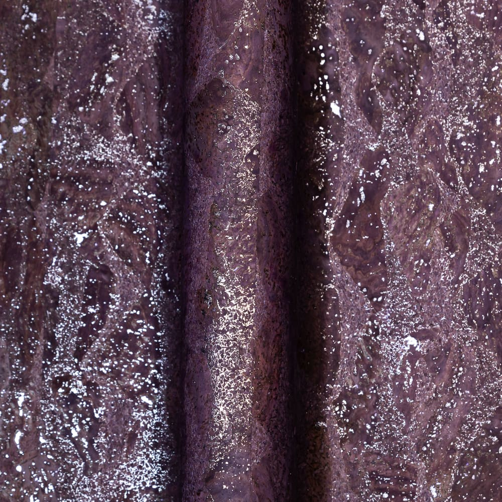 Load image into Gallery viewer, Cork Fabric - Cork Fabric - Eggplant Silver Waves
