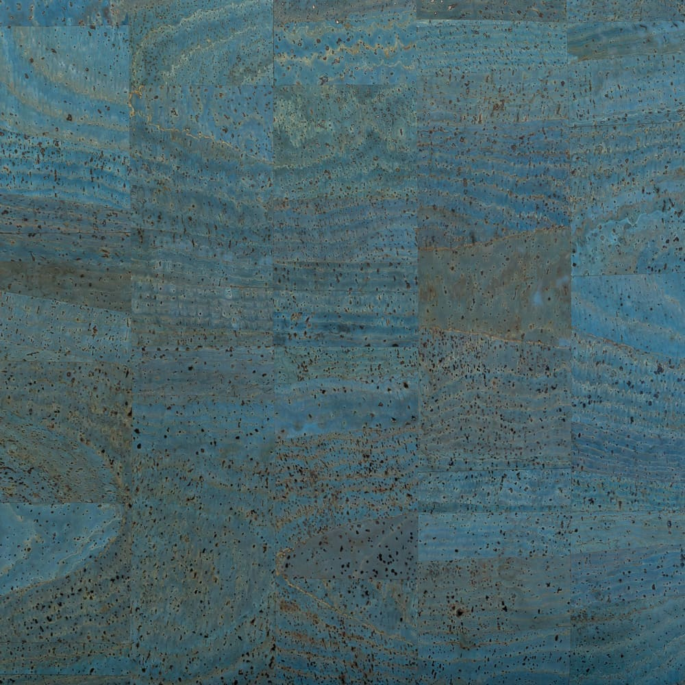 Cork Fabric - Blue - Fabric Funhouse