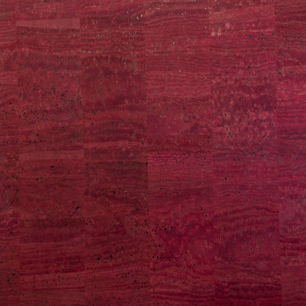 Cork Fabric - Cranberry - Fabric Funhouse