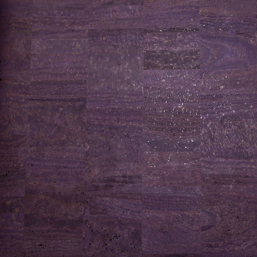 Fabric Funhouse Cork Fabric in color Eggplant, a dark shade of purple.