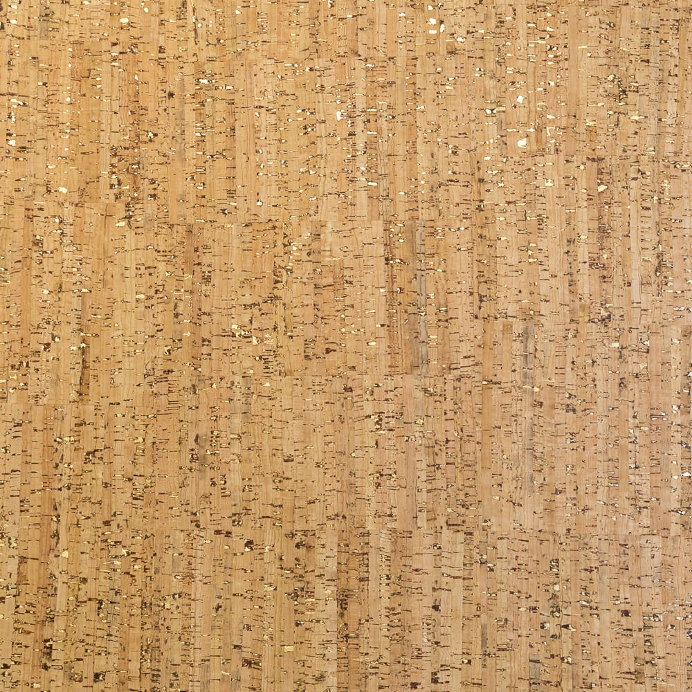Cork Fabric - Stripped Gold - Fabric Funhouse