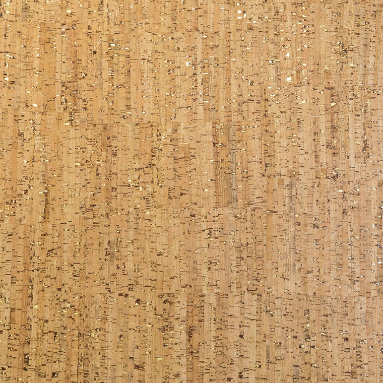 Cork Fabric - Stripped Gold