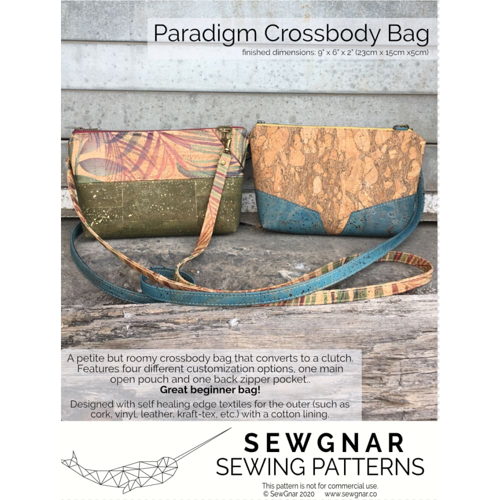 Sewing Pattern - SewGnar Paradigm Crossbody Sewing Pattern
