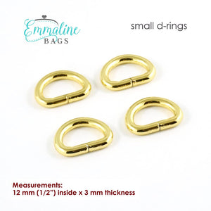 Load image into Gallery viewer, Hardware - Emmaline D-rings - 1/2 - 4 pack