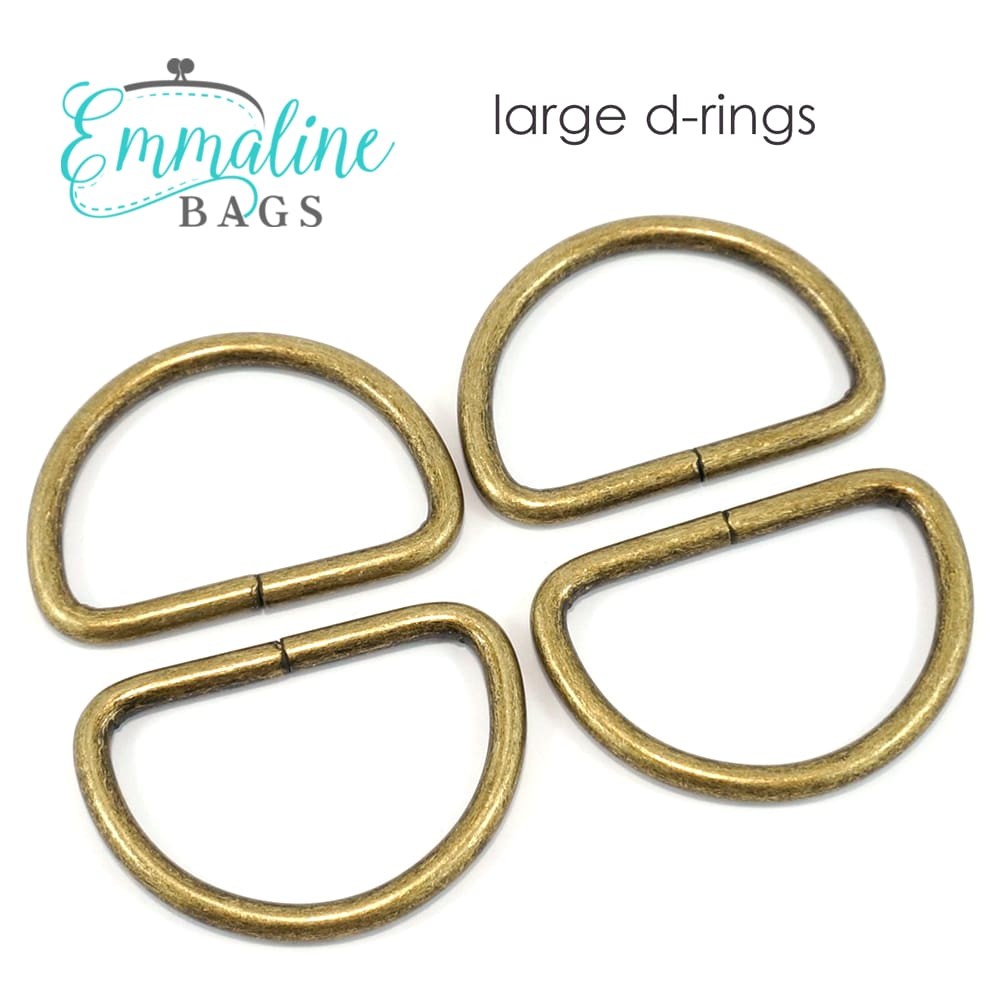 Hardware - Emmaline D-rings - 1 1/4 - 4 pack