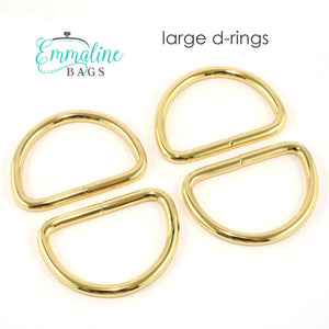 Load image into Gallery viewer, Hardware - Emmaline D-rings - 1 1/4 - 4 pack