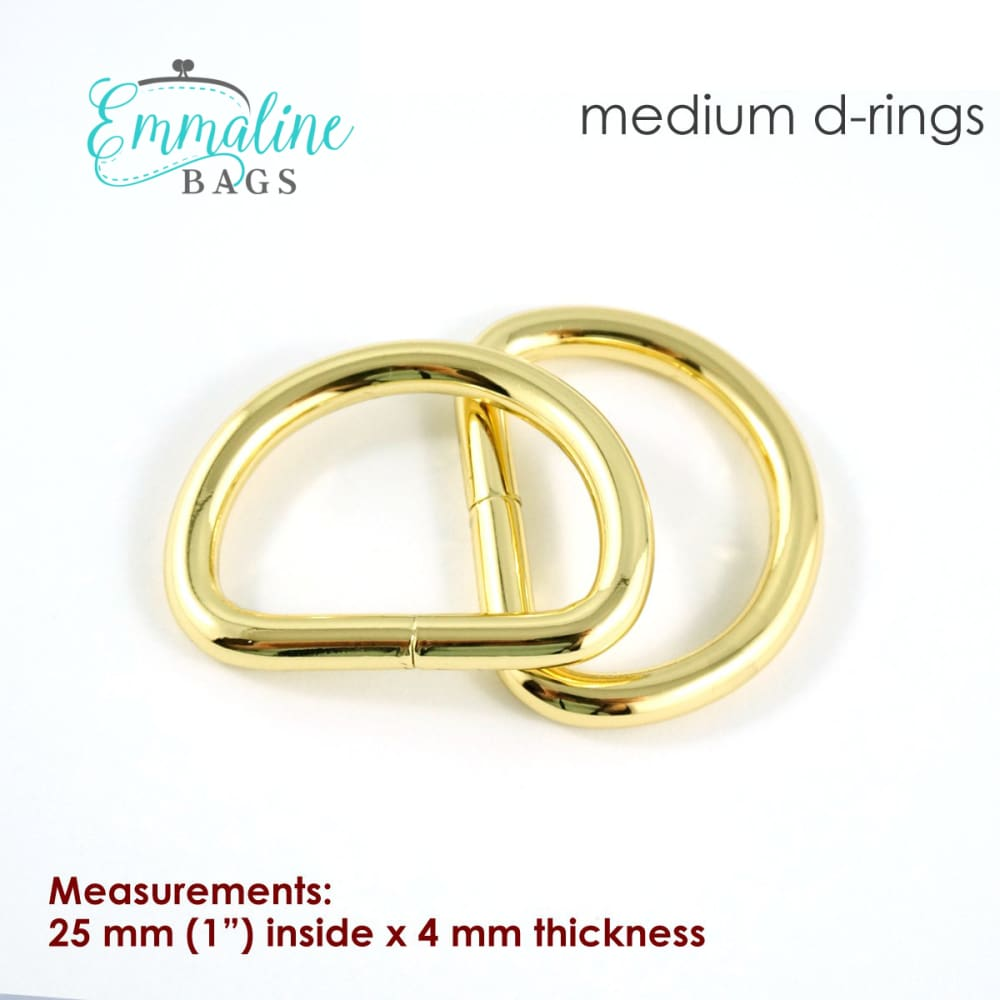 Load image into Gallery viewer, Hardware - Emmaline D-rings - 1 - 4 pack