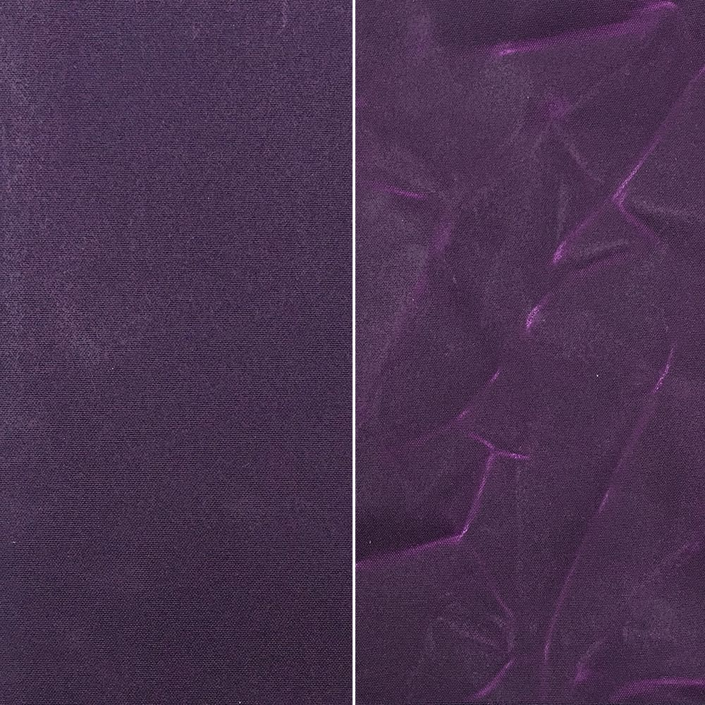 Waxed Canvas - Purple Eggplant - Fabric Funhouse