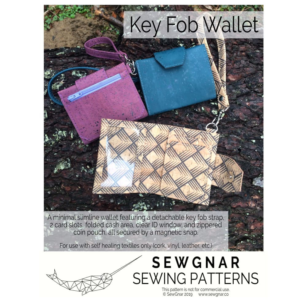 Sewing Pattern - SewGnar Key Fob Wallet Sewing Pattern