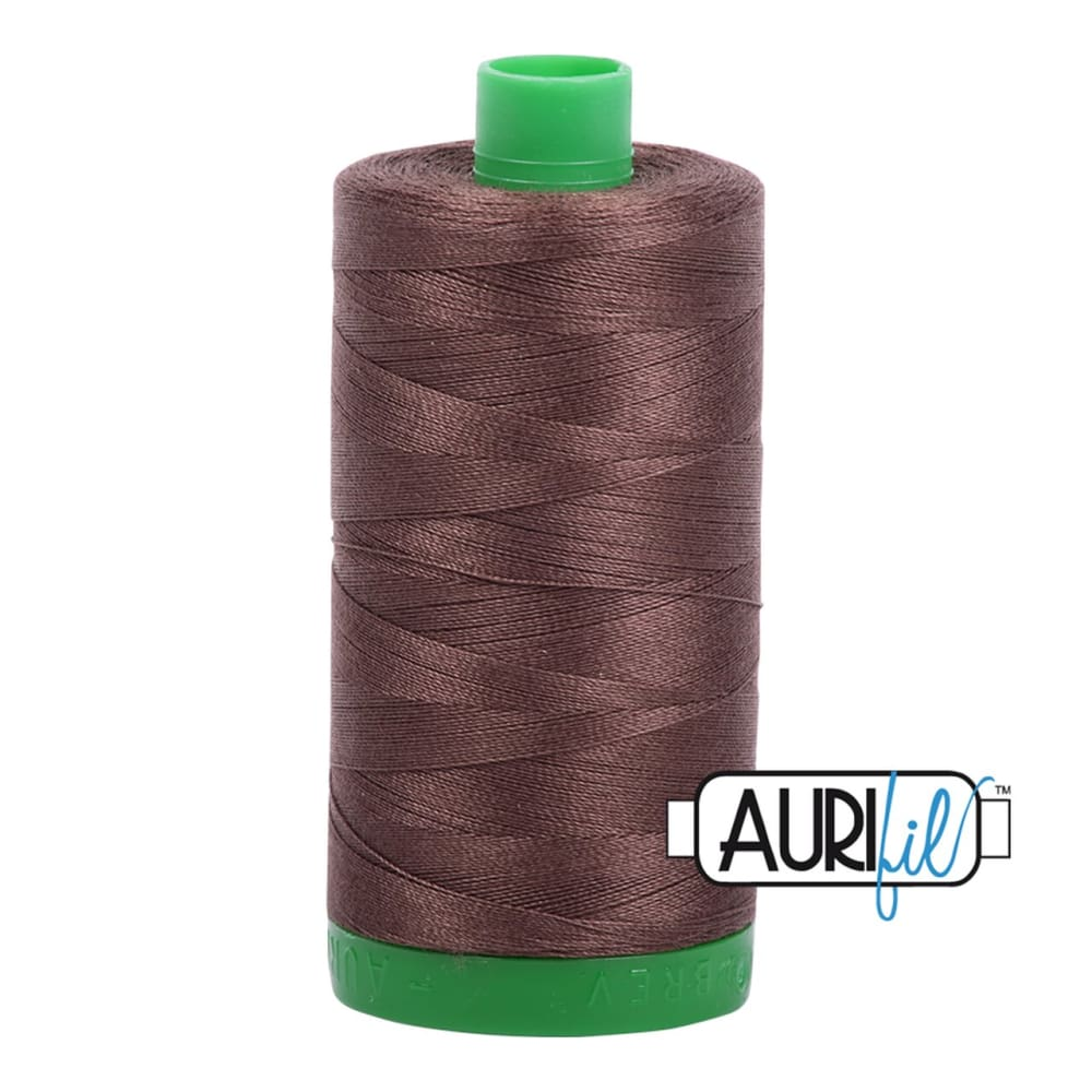 Thread - Aurifil 40wt Cotton Thread - Bark 1140