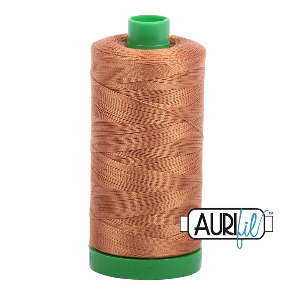 Thread - Aurifil 40wt Cotton Thread - Light Cinnamon 2335