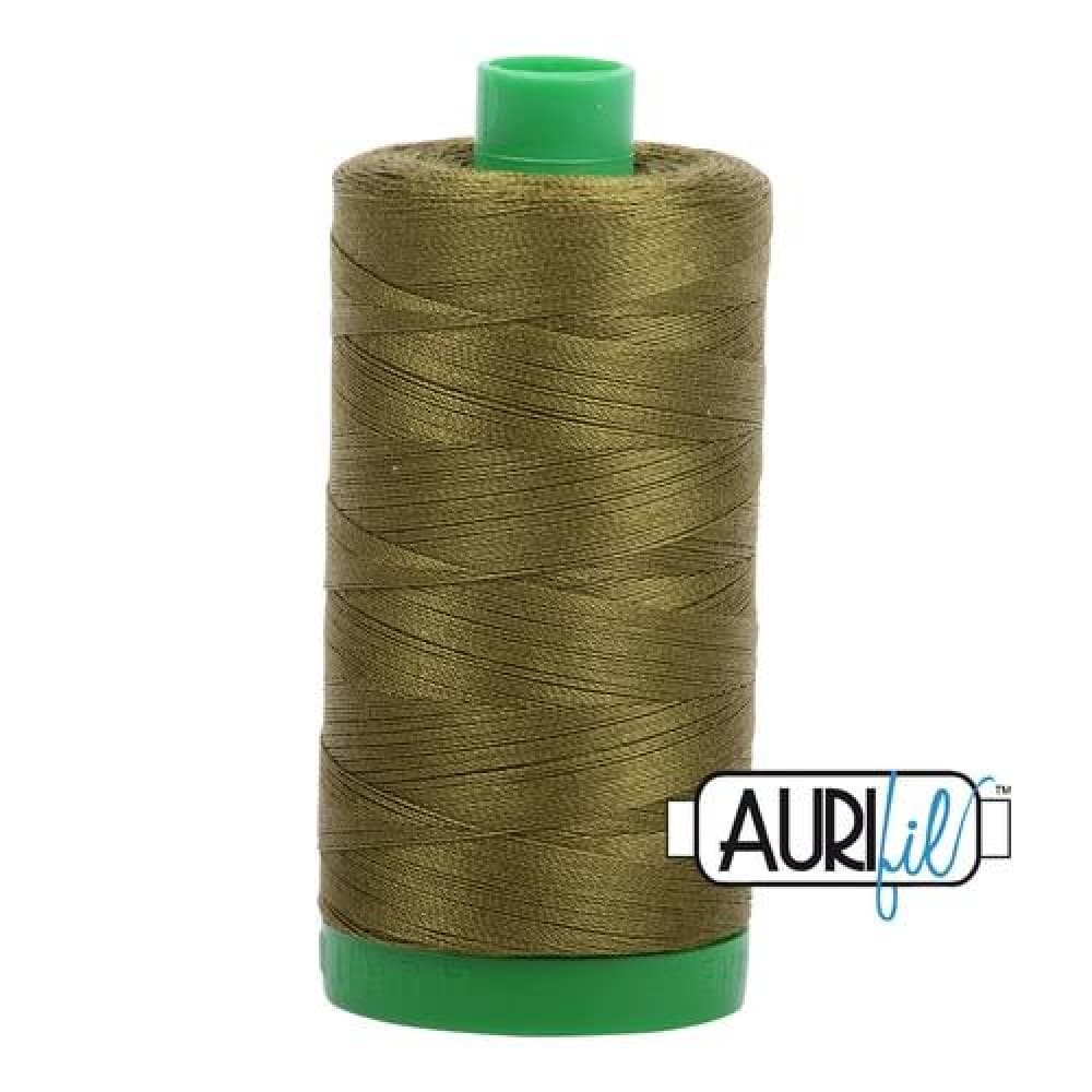 Thread - Aurifil 40wt Cotton Thread - Very Dark Olive 2887