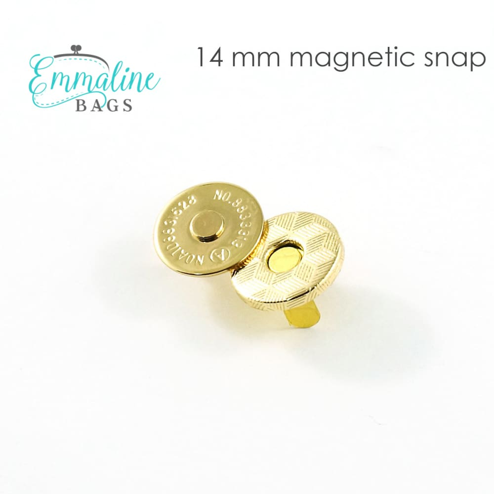 Load image into Gallery viewer, Hardware - Emmaline Magnetic Snap Closures - 9/16 (14mm) - 2 pack